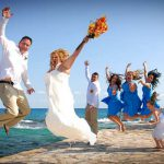 artistic wedding group cozumel photography