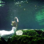 diving bridal cenote trash the dress cozumel photography