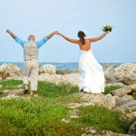 happy bridal after wedding photography in cozumel