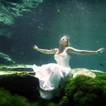 underwater bridal cenote trash the dress cozumel photography